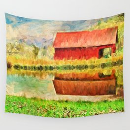 Farm Reflections Wall Tapestry
