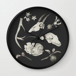 Bones and Botanical Sketches Wall Clock