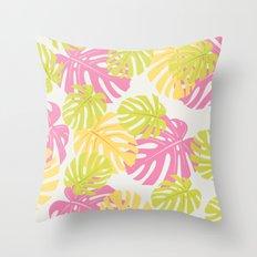 Sweet tropical pattern Throw Pillow