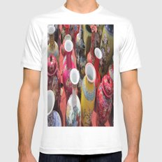 Chinese Pots Mens Fitted Tee MEDIUM White