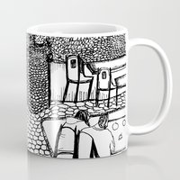 stockholm Mugs featuring Stockholm by intermittentdreamscapes