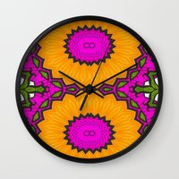 twins Wall Clocks featuring Twins by Kimberly McGuiness
