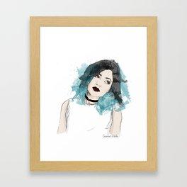 Kylie Jenner Illustration Framed Art Print