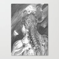 android Canvas Prints featuring Android by Zhjake