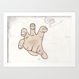 Grabbing Art Print