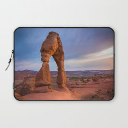 Golden Arch - Delicate Arch at Sunset in Utah Laptop Sleeve