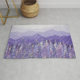 Purple Mountain Rain Rug
