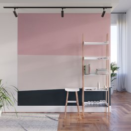 Pink & Naval & Rose Abstract Background Wall Mural