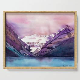 Coloful Lake Louise Serving Tray