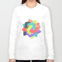 origami Long Sleeve T-shirts featuring Origami by Renata Esteves