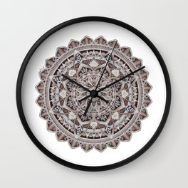 Copper Geo-Circle White Background  Wall Clock