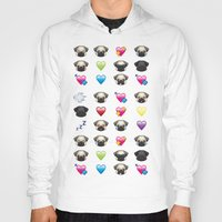 emoji Hoodies featuring Emoji Pug  by Huebucket