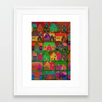 merry christmas Framed Art Prints featuring Merry Christmas! by Klara Acel