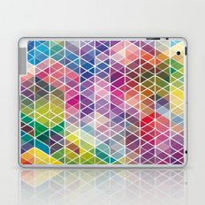 Cuben Curved #6 Geometric Art Print. Laptop & iPad Skin