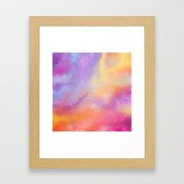 Bright Clouds Framed Art Print