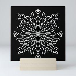 Ornamental Folk Art Pendant Black Mini Art Print