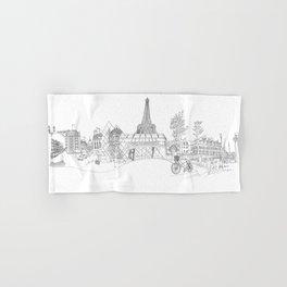 Paris! Version#1 Hand & Bath Towel