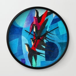 Starlings - The Dynamism of Flight by Pippo Rizzo Wall Clock