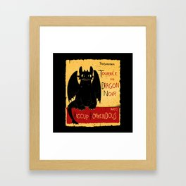 Dragon noir Framed Art Print