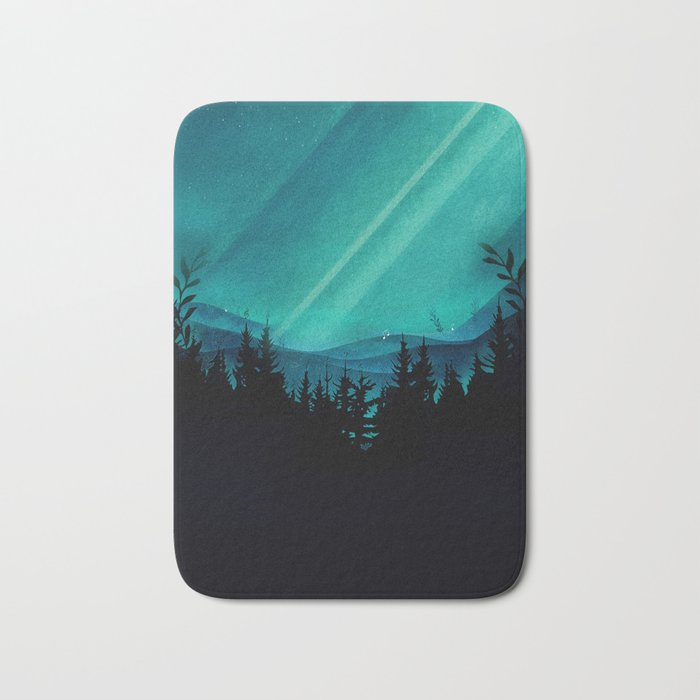 Magic in the Woods - Turquoise Bath Mat