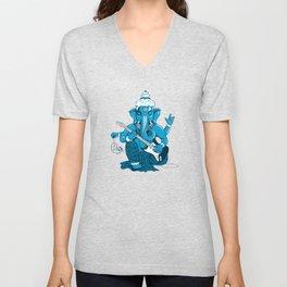 Ganesha rocks ! (v3) Unisex V-Neck