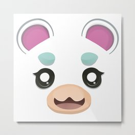 Animal Crossing Flurry Metal Print