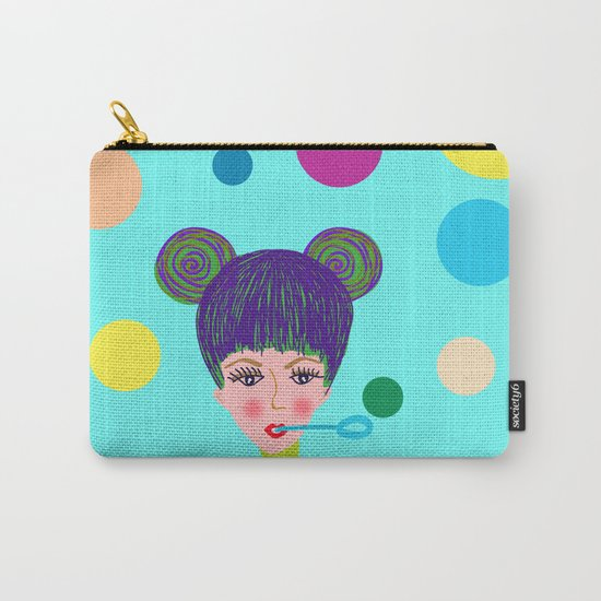 Playful girl Carry-All Pouch