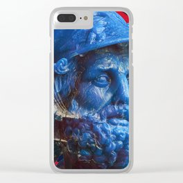 Candy dude (blue) Clear iPhone Case