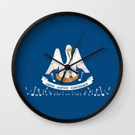 Musical Louisiana State Flag Wall Clock