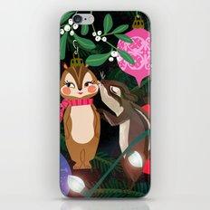 Chipmunk Kisses Holiday Card iPhone & iPod Skin