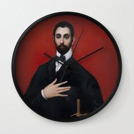 Cavaller de la ma al pit Wall Clock