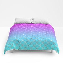 Gradient Mermaid Scales Comforters