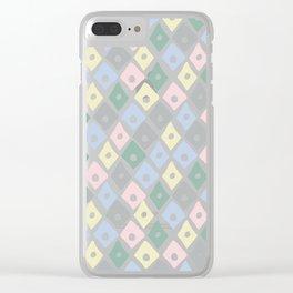 Retro Contemporary Argyle Pattern Clear iPhone Case