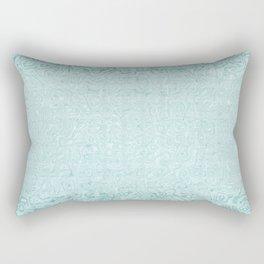 Swirling Soft Green Striped Imitation Terry Cloth Rectangular Pillow