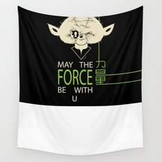 Starwars Yoda - May The Force Be With U Wall Tapestry