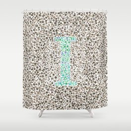 """I"" Eye Test Full Shower Curtain"