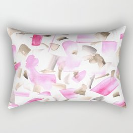 180515 Watercolour Abstract Wp 11   Watercolor Brush Strokes Rectangular Pillow