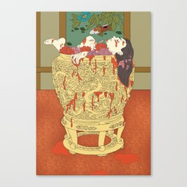 Wu Zetian: The mutilated concubines in a wine vat Canvas Print