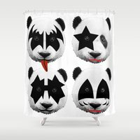 kiss Shower Curtains featuring kiss by mark ashkenazi