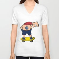 volkswagon V-neck T-shirts featuring Bart Hole by BulldawgDUDE