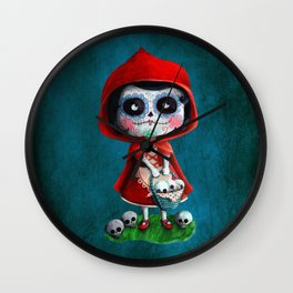 Spooky Red Riding Hood Wall Clock