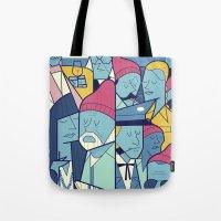 zissou Tote Bags featuring The Life Acquatic with Steve Zissou by Ale Giorgini