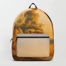 Watu Ticabu Illustrations Of Guyana South America Natural Scenes Hand Drawn Backpack