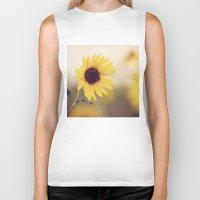 sunflower Biker Tanks featuring Sunflower by Jessica Torres Photography