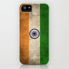 Old and Worn Distressed Vintage Flag of India iPhone Case