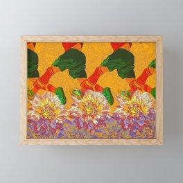 it's not all flowers Framed Mini Art Print