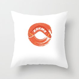 Karma Boomerang Sports Wind Game Competitive Sports Athletic Gifts Throw Pillow
