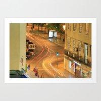 Night in Lisboa Art Print
