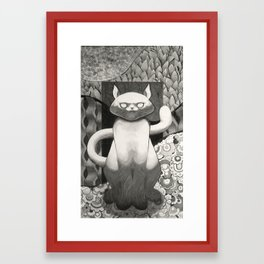 Cat Stare Framed Art Print