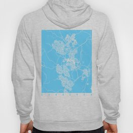 Canberra map blue Hoody